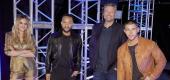 Kelsea Ballerini, John Legend, Blake Shelton, Nick Jonas. (Trae Patton/NBC/NBCU Photo Bank via Getty Images)