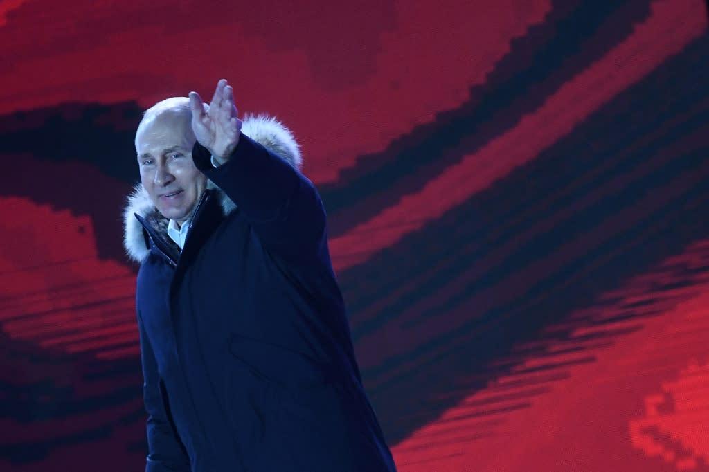 President Vladimir Putin won a record fourth term in office (AFP Photo/Kirill KUDRYAVTSEV)