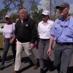 President Trump visits Florida towns destroyed by Hurricane Michael