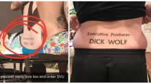 Meet the dedicated 'Law & Order' fan with a 'Dick Wolf' tramp stamp