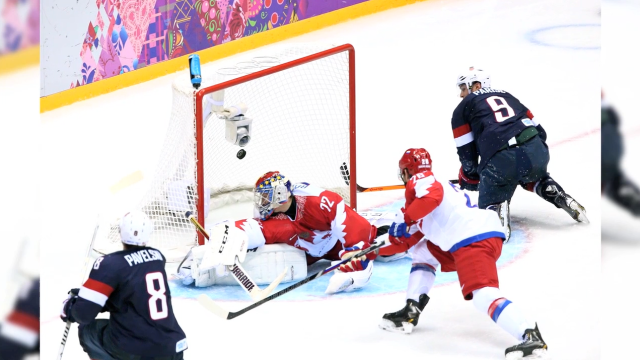 USA beats Russia in overtime shootout