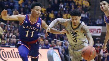 WVU stuns No. 7 Kansas for first Big 12 win
