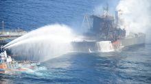 Fresh fire hits stricken oil supertanker off Sri Lanka