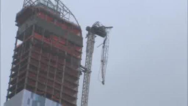 Midtown crane replaced, some residents displaced