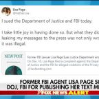 Former FBI attorney Lisa Page sues DOJ, FBI for publishing her text messages