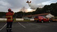 Pyrénées-Atlantiques : l'incendie à Anglet est maîtrisé après avoir ravagé 100hectares de forêt