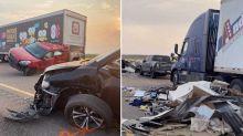 Huge 22-car crash leaves eight dead, including children