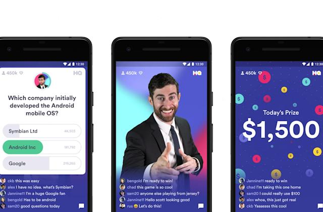 Live trivia hit HQ comes to Android on January 1st