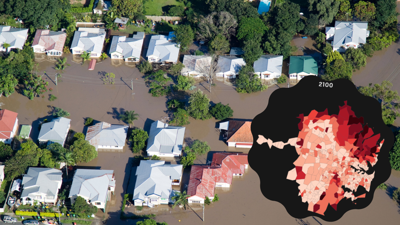 Map: The suburbs where insurance premiums are set to heat up from climate risk