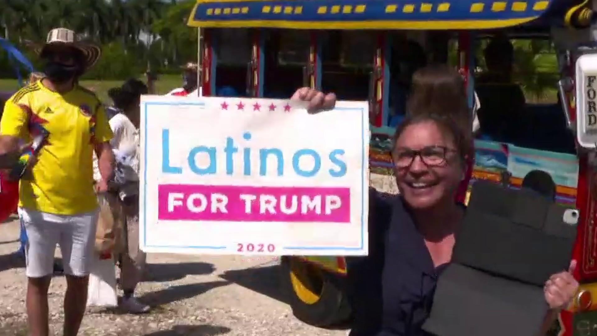 Trump, Biden court Latino voters in Florida as election day nears