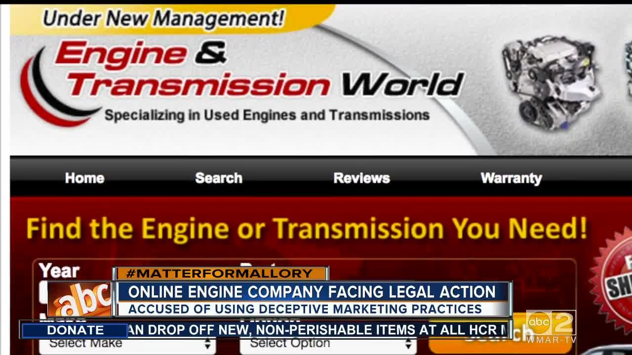 Online Engine Company Facing Legal Action Video