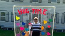 Mom builds 'Hug time' structure so family can safely embrace great-grandmother: 'It fills my heart'