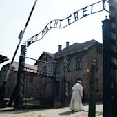 "Photos: In a world that ""has lost peace,"" the Pope made an emotional visit to Auschwitz"