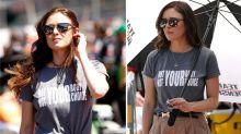 Race car drivers' fiancées wear pro-choice T-shirts to qualifier