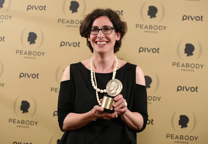 NEW YORK, NY - MAY 31:  Sarah Koenig poses with her award at The 74th Annual Peabody Awards Ceremony at Cipriani Wall Street on May 31, 2015 in New York City.  (Photo by Jemal Countess/Getty Images for Peabody Awards)