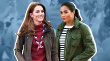 Kate Middleton twins with Meghan Markle in spring's hottest jacket trend