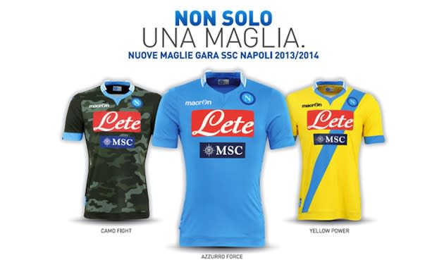Napoli Launch Camouflage Away Kit For 2013 14 Season