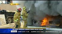 Fire demo showcases dangers during holiday season