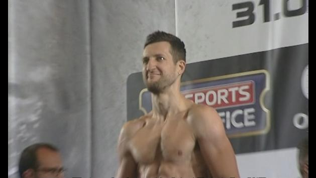 Carl Froch and George Groves attend weigh-in