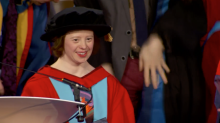 'Believe in yourself': Actor and dancer is first person with Down's Syndrome to get honorary university degree