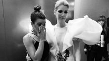 Lea Michele Cries Over Spending Time With Idol Celine Dion, Calls It 'the Best Night' of Her Life