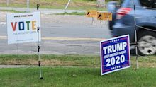 Massachusetts man puts up electric fence around Trump lawn sign after string of thefts