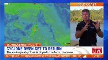 Wet week ahead as ex-tropical cyclone Owen could reform