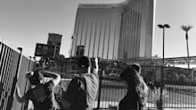 A surreal scene as Las Vegas returns to business after Sunday massacre