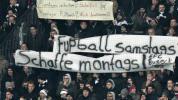 Foot - ALL - Francfort - Bundesliga : colère et vuvuzelas lors de Francfort-Leipzig, pour protester contre les matches le lundi