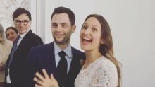 Penn Badgley Marries Domino Kirke at Brooklyn Courthouse