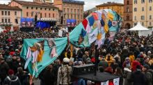 Italy's anti-far right 'Sardines' rally ahead of regional polls