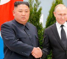 North Korea's Kim Jong-un meets Vladimir Putin for first time in Russian city of Vladivostok