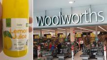 Mum's 'absolutely disgusting' find inside Woolworths lemon juice