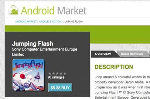 PSOne games begin appearing on Android Market, limited to Xperia Play