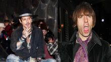 Johnny Depp y Liam Gallagher: alcohol y desmadre en Glastonbury