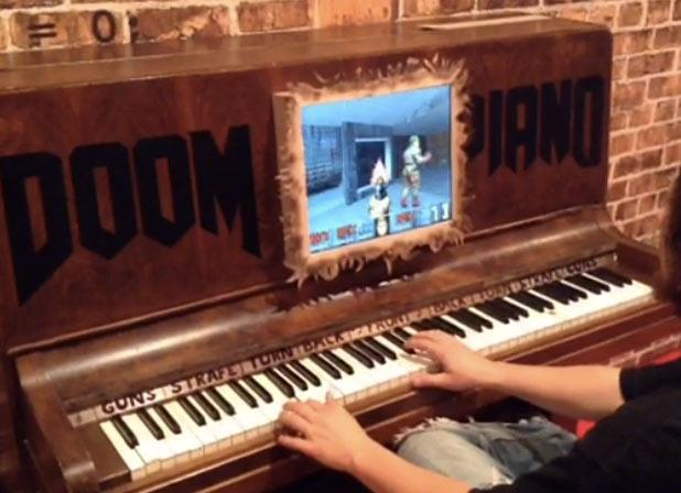 Modders turn piano into Doom controller (video)