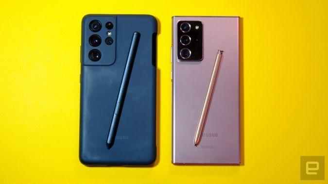 ICYMI: We try out Samsung's S Pen/case combo for the Galaxy S21 Ultra