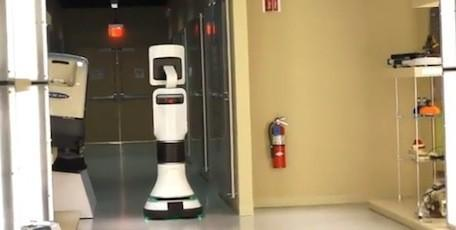 iRobot's mobile medical telepresence robot controlled by iPad app
