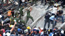 Photos Show Destruction And Scramble For Survivors After Deadly Mexico Earthquake