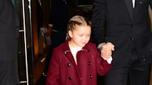 Victoria Beckham's 7-year-old daughter is getting called out for wearing strappy nude stilettos