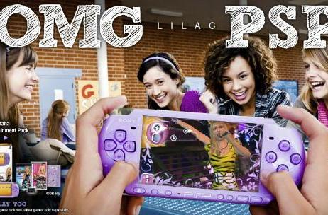 OMG Lilac PSP! Sony says 'Girlz Play Too'
