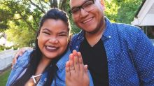 Couple mocked over 'smallest engagement ring ever made'