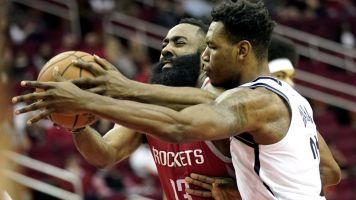 Nets stun Rockets despite Harden's 58 points