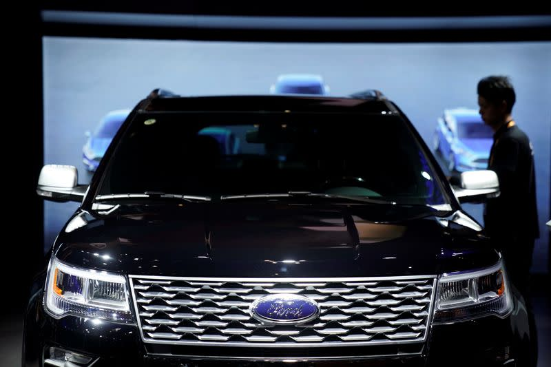 Ford's vehicle sales in China tumble for third consecutive year