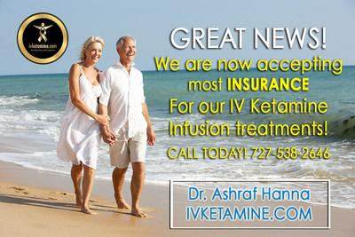 Breakthrough Treatment IV Ketamine Infusions for Depression, PTSD, CRPS, Fibromyalgia, Chronic Lyme, Rheumatoid Arthritis and More Now Covered By Insurance!