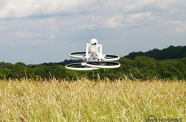 Watch this: A robot traverses the English countryside on a hoverbike