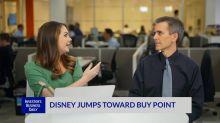 Disney Jumps Toward Buy Point