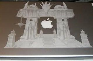 MacBook Pro gets laser-etched with a Dark Portal