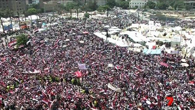 Mass protests in Egypt