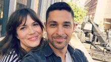 Friendly Exes Mandy Moore, Wilmer Valderrama Bump into Each Other at Work, Snap Sweet Selfies